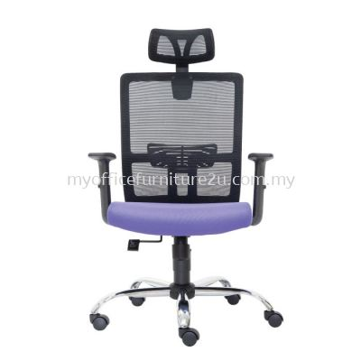 D2951H Spec Mesh Director Chair Pu Leather