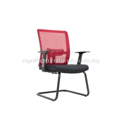 V2957S Spec Mesh Visitor Chair Pu Leather