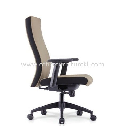 KALMIA EXECUTIVE MEDIUM BACK FABRIC CHAIR C/W NYLON ROCKET BASE