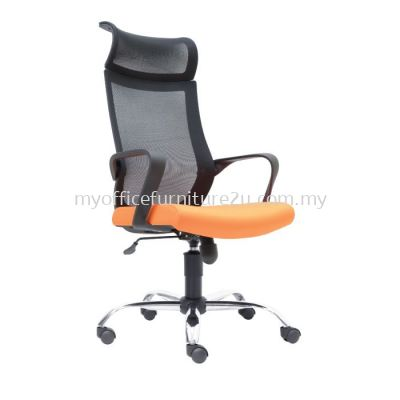D2821H Stroke Mesh Director Chair Pu Leather
