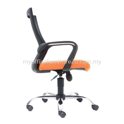 M2822H Stroke Mesh Executive Chair Pu Leather