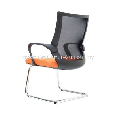 V2823S Stroke Mesh Visitor Chair Pu Leather