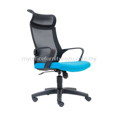 D2825H Stroke Mesh Director Chair Pu Leather