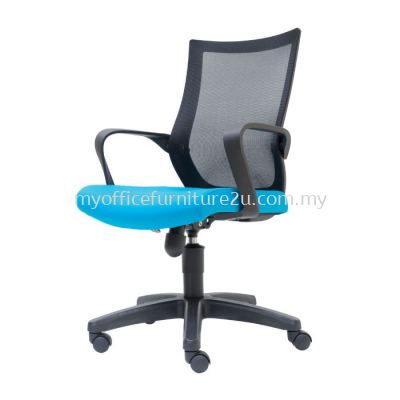 M2826H Stroke Mesh Executive Chair Pu Leather