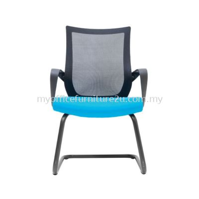 V2827S Stroke Mesh Visitor Chair Pu Leather