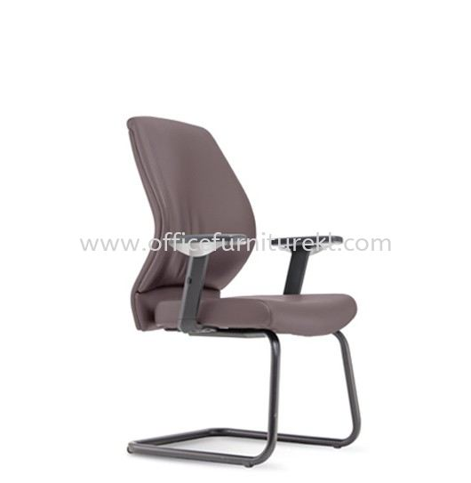 SENSE 3 EXECUTIVE VISITOR LEATHER CHAIR WITH EPOXY BLACK CANTILEVER BASE VA