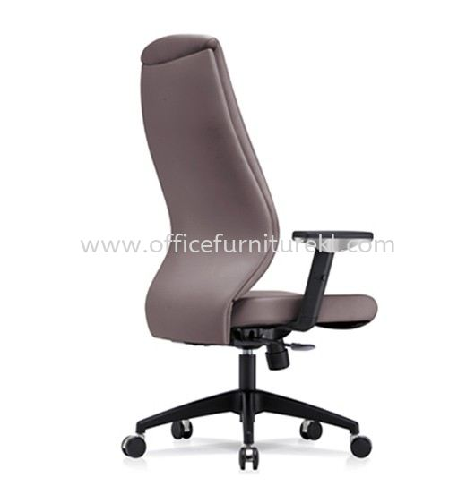 SENSE 3 EXECUTIVE HIGH BACK LEATHER CHAIR WITH NYLON ROCKET BASE HB