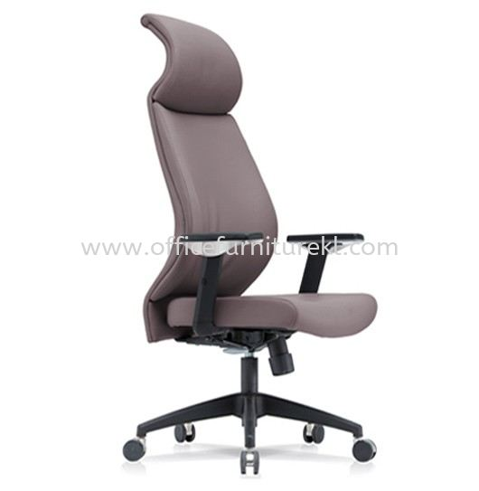 SENSE 3 EXECUTIVE CURVE HIGH BACK LEATHER CHAIR WITH NYLON ROCKET BASE CHB