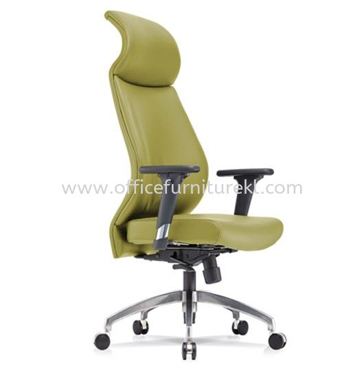 SENSE 4 EXECUTIVE CURVE HIGH BACK LEATHER CHAIR WITH ALUMINIUM ROCKET DIE-CAST BASE CHB