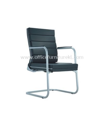 TREND EXECUTIVE VISITOR LEATHER CHAIR WITH CHROME TRIMMING LINE