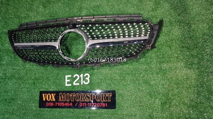 w213 e class diamond grille fit for mercedes benz w213 e class replace upgrade performance look brand new set