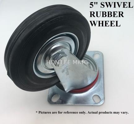 """5"""" SWIVEL RUBBER WHEEL"""