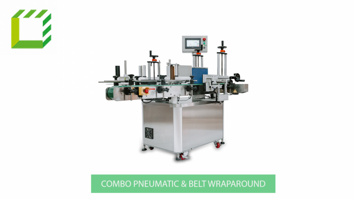 Combo pneumatic & belt wraparound Labelling Machine (Taiwan)