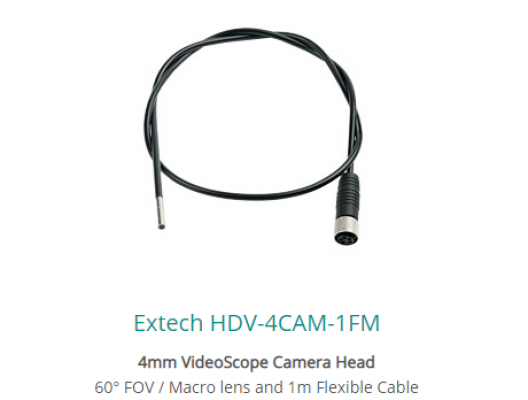 Extech HDV-4CAM-1FM 4mm VideoScope Camera Head