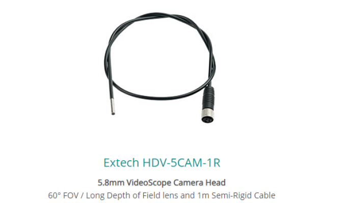 Extech HDV-5CAM-1R 5.8mm VideoScope Camera Head