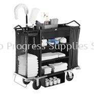 1805988 Executive Deluxe High Capacity Housekeeping Cart with Locking Drawer