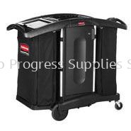 FG9T7600BLA Executive Housekeeping Compact Cleaning Cart - High Capacity