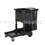 1861430 Executive Janitorial Cleaning Cart - Traditional