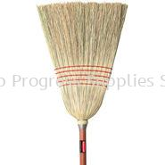"""6381 Corn Broom, Standard, 1"""" dia (2.5 cm) Stained/Lacquered Handle"""