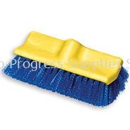 337 Floor Scrub, Plastic Block, Bi-level, Polypropylene Fill
