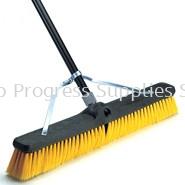X40204 Plastic Foam Block Brace Broom, Medium-Duty, Multi-Surface Polypropylene Fill, Fine Flagged Border
