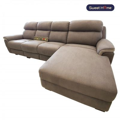 Fabrics L shape Sofa With Recliner Funtions