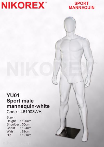 461003WH - MALE SPORT/M (EGG FACE) MATTE WHITE (YU01)