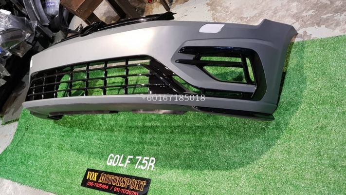 golf mk7.5 r front bumper for volkswagen golf mk7 replace upgrade performance look pp material brand new set