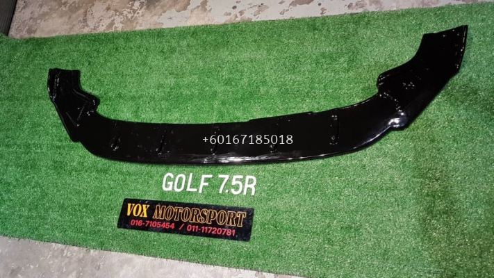 golf mk7 fornt lip gloss black fit for volkswagen golf mk7 r add on upgrade performance look pp material brand new set