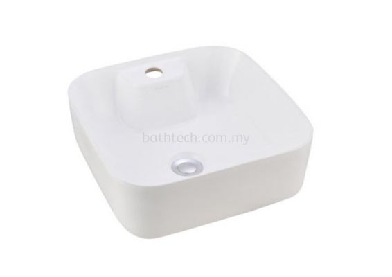 Valencia Slim Square Countertop Basin-1TH