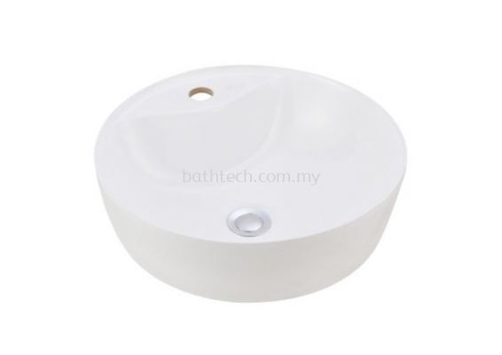 Valencia Slim Round Countertop Basin-1TH