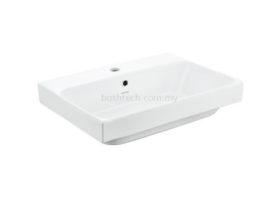 Gemelli Rectangular 550 Semi Insert Basin-1TH