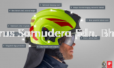 ROSENBAUER FIRE FIGHTING HELMET HEROS-TITAN LUMINOUS WITH FACE SHIELD AND NECK PROTECTOR 157300-555 Fire Fighting Equipment