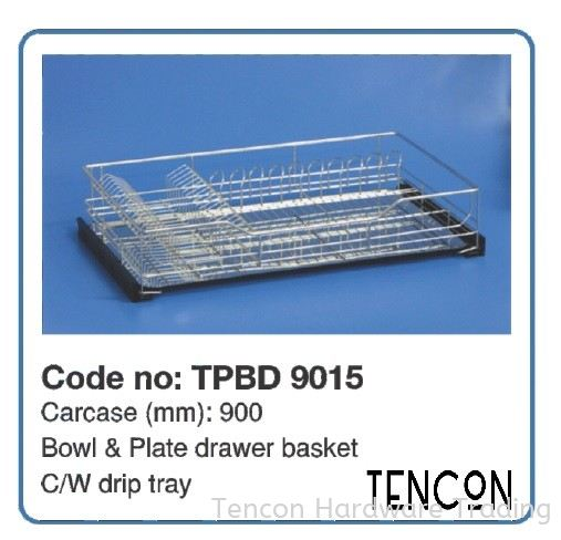 Side Pull-out Basket (900mm TPBD 9015) Side Pull-out Basket $$$$$ Grade 304 (18-8) Stainless Steel TENCON Kitchen Cabinet