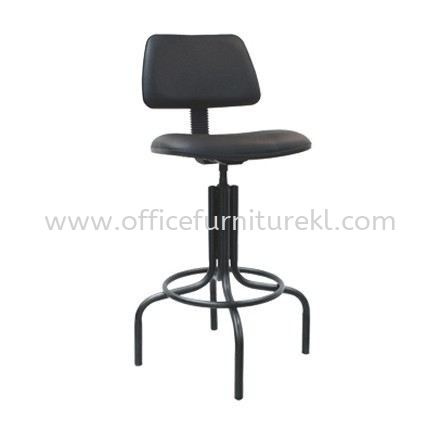 HIGH PRODUCTION STOOL CHAIR WITH BACKREST WITH EPOXY BLACK METAL BASE PS2