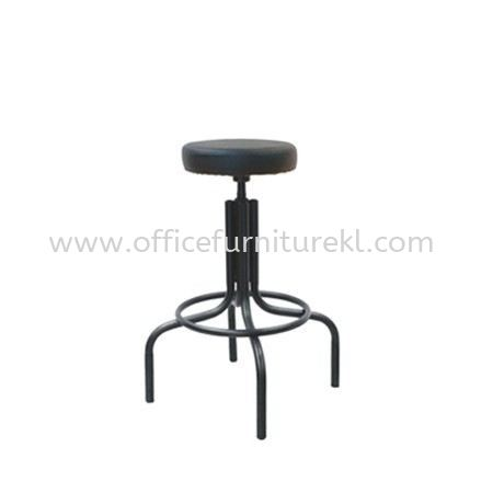 HIGH PRODUCTION STOOL WITH EPOXY BLACK METAL BASE PS1