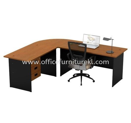 RECTANGULAR TABLE WITH FIXED PEDESTAL 3D SET