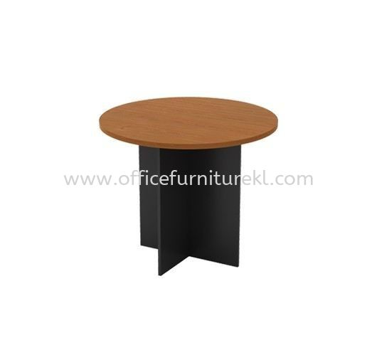 ROUND MEETING TABLE WITH WOODEN BASE GR 90