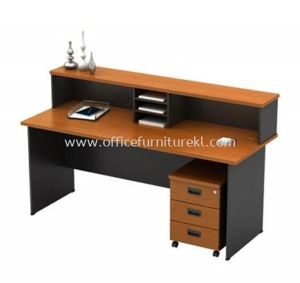RECEPTION COUNTER TABLE WITH MOBILE PEDESTAL 3D