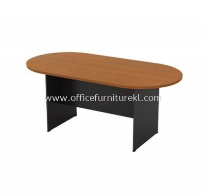 OVAL MEETING TABLE WITH WOODEN BASE GO 18