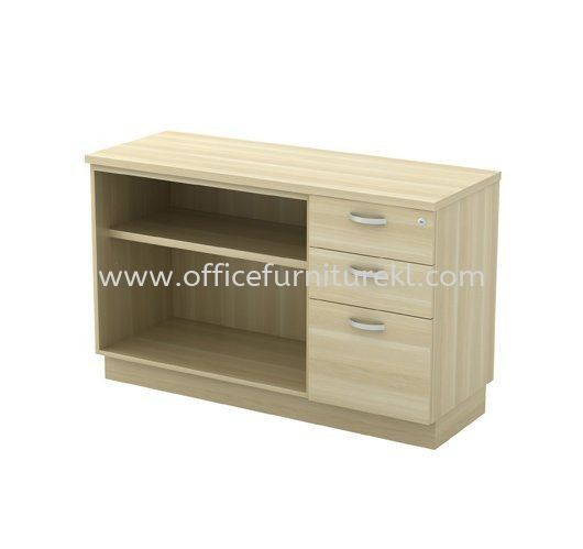 SIDE CABINET OPEN SHELF + FIXED PEDESTAL 2D1F Q-YOP 7123