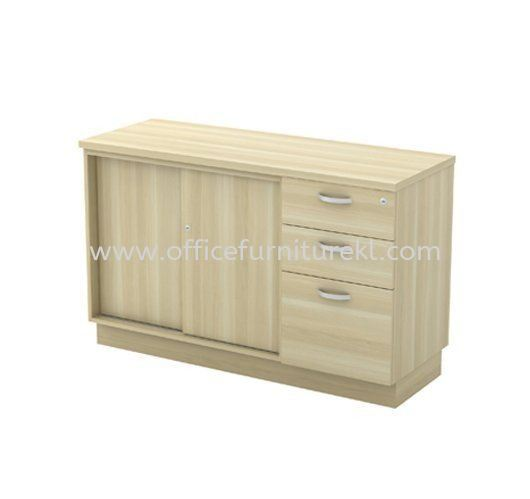 SIDE CABINET SLIDING DOOR + FIXED PEDESTAL 2D1F Q-YSP 7123