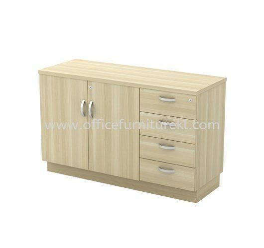 SIDE CABINET WITH SWINGING DOOR + FIXED PEDESTAL 4D Q-YDP 7124