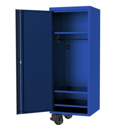"""SP TOOLS 27"""" USA SUMO SERIES SIDE CABINET - 3 FIXED SHELVES & CLOTHES HANG RAIL - BLUE/BLACK SP44885"""