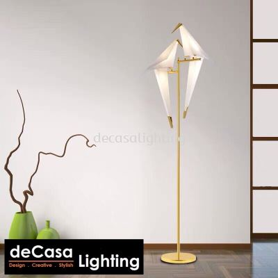 Designer Bird FLOOR Lamp - Gold Series