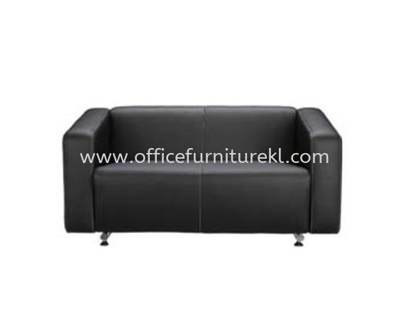 ALPHA TWO SEATER SOFA C/W CHROME METAL BASE