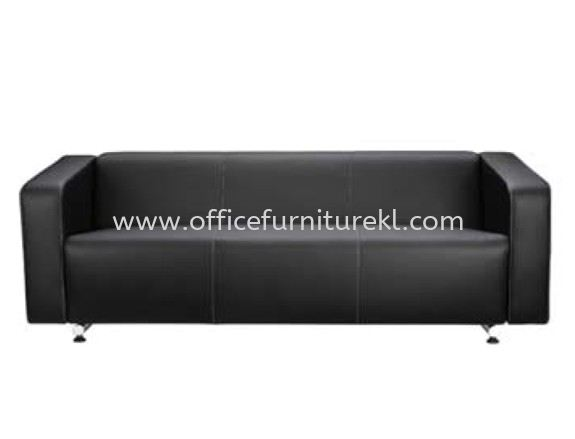 ALPHA THREE SEATER SOFA C/W CHROME METAL BASE
