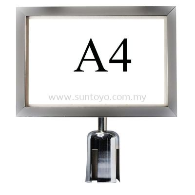 A4 S.S Sign For Q-Up Stand