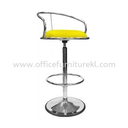 HIGH BARSTOOL CHAIR WITH BACKREST C/W ROUND CHROME METAL BASE ST1