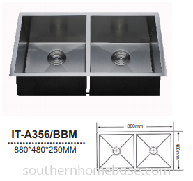 ITTO 2 BOWL KITCHEN SINK IT-A356/BBM